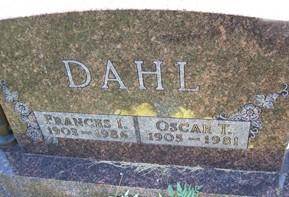 LONGBOTHAM DAHL, FRANCES I.