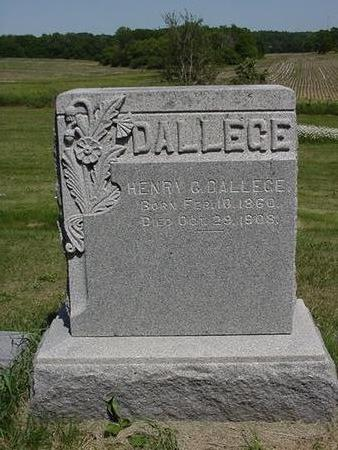 DALLEGE, HENRY - Cedar County, Iowa | HENRY DALLEGE