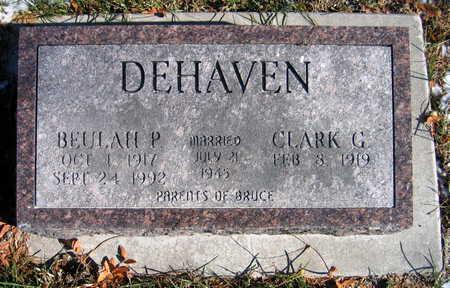 DEHAVEN, BEULAH P. - Cedar County, Iowa   BEULAH P. DEHAVEN