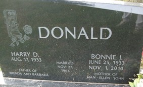 DONALD, BONNIE JEAN - Cedar County, Iowa | BONNIE JEAN DONALD