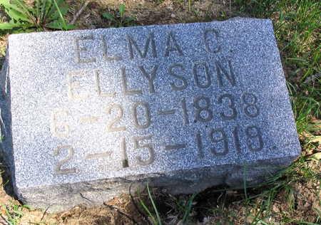 ELLYSON, ELMA C. - Cedar County, Iowa   ELMA C. ELLYSON
