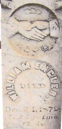 ENGLER, WILLIAM - Cedar County, Iowa   WILLIAM ENGLER