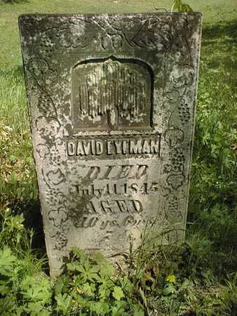 EYEMAN, DAVID - Cedar County, Iowa | DAVID EYEMAN