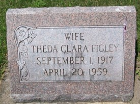 FIGLEY, THEDA CLARA - Cedar County, Iowa | THEDA CLARA FIGLEY