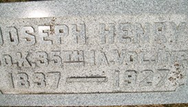 FISHER, JOSEPH H. - Cedar County, Iowa | JOSEPH H. FISHER