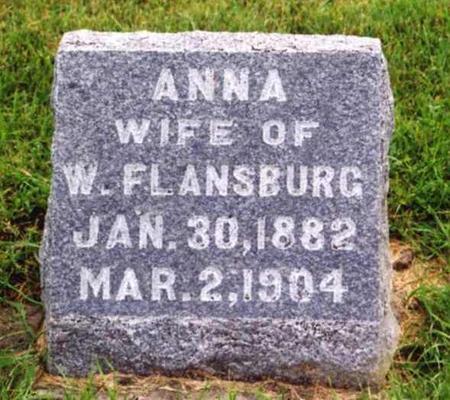 DOMER FLANSBURG, ANNA ELIZABETH - Cedar County, Iowa | ANNA ELIZABETH DOMER FLANSBURG