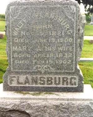 FLANSBURG, WALTER - Cedar County, Iowa | WALTER FLANSBURG