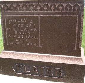 ROACH FLATER, POLLY A. - Cedar County, Iowa | POLLY A. ROACH FLATER