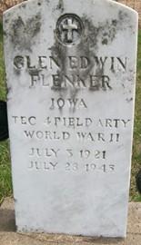 FLENKER, GLEN EDWIN - Cedar County, Iowa | GLEN EDWIN FLENKER