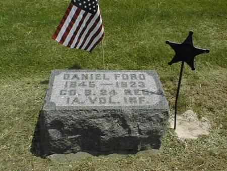 FORD, DANIEL - Cedar County, Iowa   DANIEL FORD