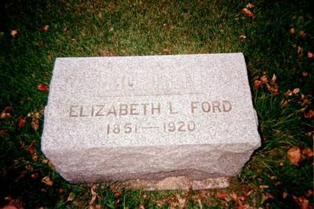 FORD, ELIZABETH - Cedar County, Iowa | ELIZABETH FORD