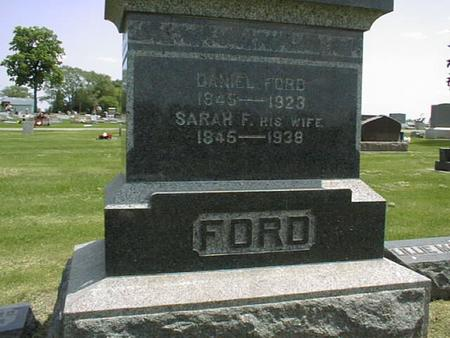 FISHER FORD, SARAH F. - Cedar County, Iowa | SARAH F. FISHER FORD
