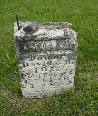 FOX, AMANDA I. - Cedar County, Iowa | AMANDA I. FOX