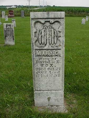FOX, MARY C. - Cedar County, Iowa   MARY C. FOX