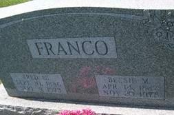 FRANCO, BESSIE M. - Cedar County, Iowa | BESSIE M. FRANCO