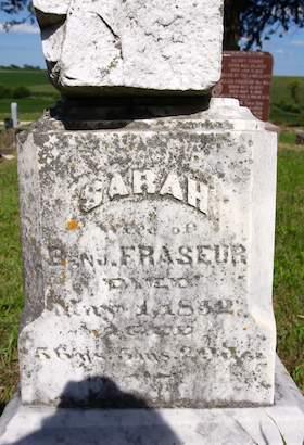 FRASEUR, SARAH - Cedar County, Iowa   SARAH FRASEUR