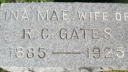 GATES, INA MAE - Cedar County, Iowa | INA MAE GATES