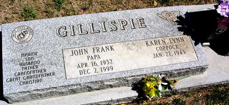 GILLISPIE, JOHN FRANK - Cedar County, Iowa   JOHN FRANK GILLISPIE