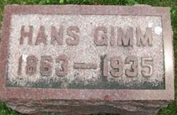 GIMM, HANS - Cedar County, Iowa | HANS GIMM