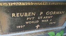 GORMAN, REUBEN P. - Cedar County, Iowa | REUBEN P. GORMAN