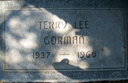 GORMAN, TERRY LEE - Cedar County, Iowa   TERRY LEE GORMAN