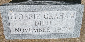 GRAHAM, FLOSSIE - Cedar County, Iowa | FLOSSIE GRAHAM