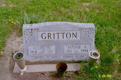 OSBORN GRITTON, MINNIE A. - Cedar County, Iowa | MINNIE A. OSBORN GRITTON