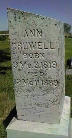 GRUWELL, ANN - Cedar County, Iowa | ANN GRUWELL