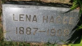 HAGGE, LENA - Cedar County, Iowa | LENA HAGGE