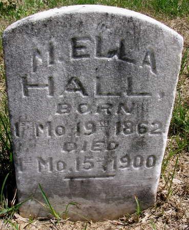 HALL, M. ELLA - Cedar County, Iowa   M. ELLA HALL