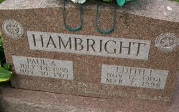 HAMBRIGHT, EDITH I. - Cedar County, Iowa | EDITH I. HAMBRIGHT