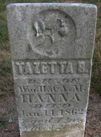 HANNA, TAZETTA B. - Cedar County, Iowa | TAZETTA B. HANNA