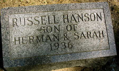 HANSON, RUSSELL - Cedar County, Iowa   RUSSELL HANSON