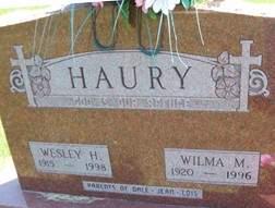 HAURY, WESLEY H. - Cedar County, Iowa | WESLEY H. HAURY