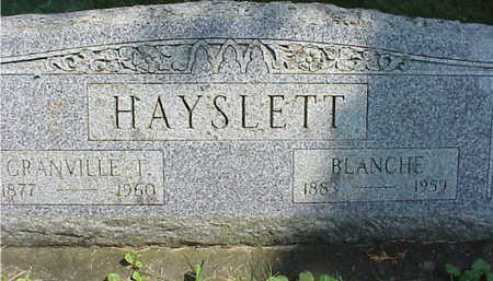 SWISHER HAYSLETT, BLANCHE - Cedar County, Iowa | BLANCHE SWISHER HAYSLETT