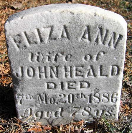 HEALD, ELIZA ANN - Cedar County, Iowa | ELIZA ANN HEALD