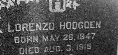 HODGDEN, LORENZO - Cedar County, Iowa | LORENZO HODGDEN
