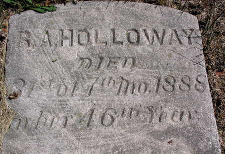 HOLLOWAY, R.A. - Cedar County, Iowa | R.A. HOLLOWAY