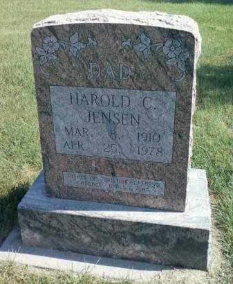 JENSEN, HAROLD C. - Cedar County, Iowa   HAROLD C. JENSEN