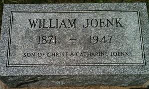 JOENK, WILLIAM - Cedar County, Iowa   WILLIAM JOENK