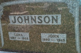 JOHNSON, LENA - Cedar County, Iowa | LENA JOHNSON