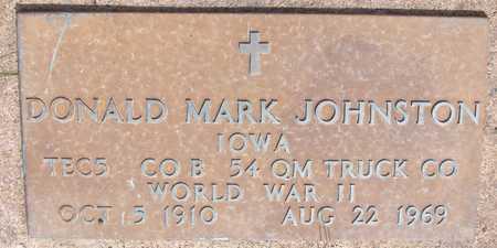 JOHNSTON, DONALD MARK - Cedar County, Iowa | DONALD MARK JOHNSTON
