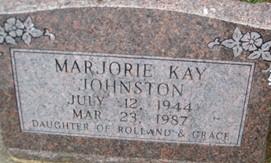 JOHNSTON, MARJORIE KAY - Cedar County, Iowa | MARJORIE KAY JOHNSTON