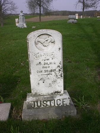 JUSTICE, GEORGE - Cedar County, Iowa | GEORGE JUSTICE