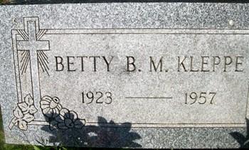 HORSTMANN KLEPPE, BETTY B. M. - Cedar County, Iowa | BETTY B. M. HORSTMANN KLEPPE
