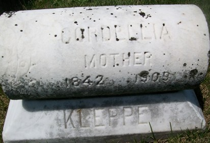 KLEPPE, CORDELLIA - Cedar County, Iowa   CORDELLIA KLEPPE
