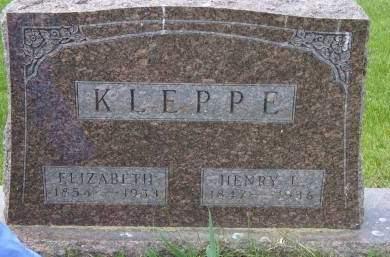 HENRICH KLEPPE, ELIZABETH - Cedar County, Iowa | ELIZABETH HENRICH KLEPPE