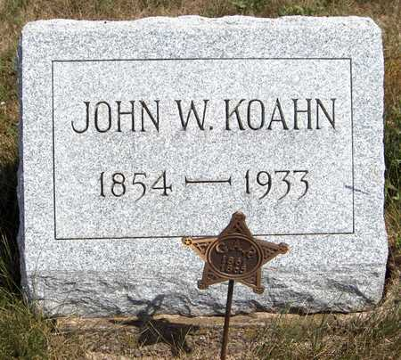 KOAHN, JOHN W. - Cedar County, Iowa | JOHN W. KOAHN