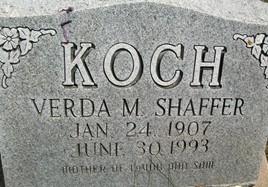 KOCH, VERDA M. - Cedar County, Iowa | VERDA M. KOCH