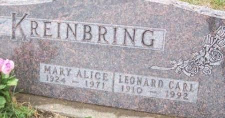 KREINBRING, MARY ALICE - Cedar County, Iowa | MARY ALICE KREINBRING